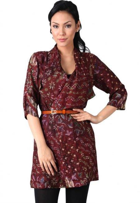 model baju batik wanita  kerja ide model busana