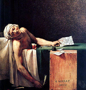 29. Jacques Louis David, The Death of Marat (1793) Royal Museums of Fine Arts, Brussels) by vizcult