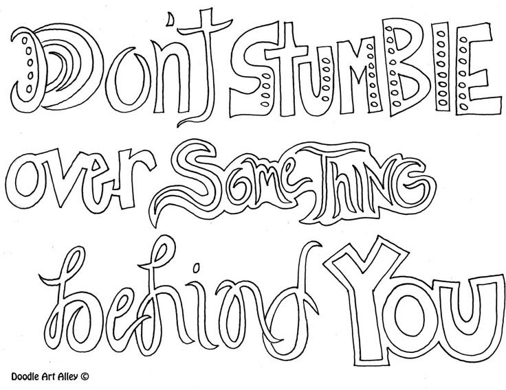 Positive Quotes Coloring Pages Master Trick