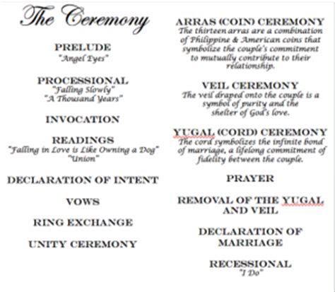 Ceremony & Filipino Traditions   Weddingbee