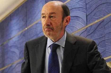 El secretario general del PSOE, Alfredo Pérez Rubalcaba. | Foto: Bernardo Díaz.