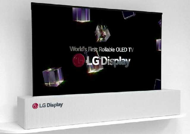 LG's New 65-inch 4K OLED TV can be rolled up like a Paper