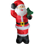 8' Animated Inflatable Lighted Standing Santa Claus Christmas Yard Decor by Christmas Central