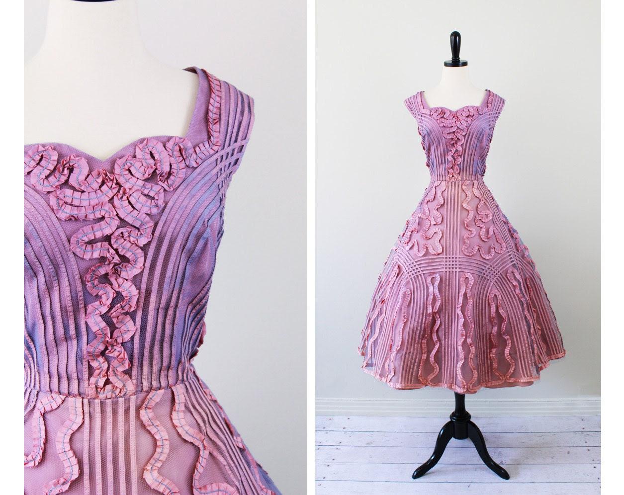 Vintage 1950s Wedding Cupcake Party Dress