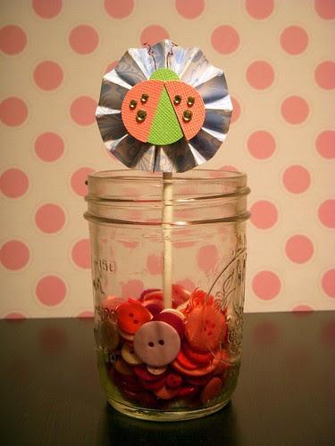 Ladybug Cupcake Topper 1