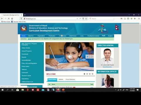 Using website of CDC to download resources for home tutoring
