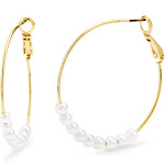 Taylor Pearl Hoops - Gifts for Mom - Bridesmaid Gifts - Anniversary Gift for Her - Graduation Gifts for Her