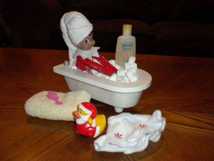 bubble bath  Elf  on a shelf Pinterest