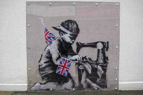 La obra atribuida a Banksy que desapareció de la pared. | Efe