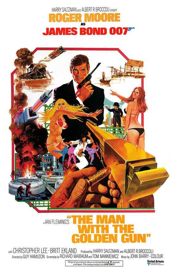 James Bond 007 The Man With The Golden Gun Poster