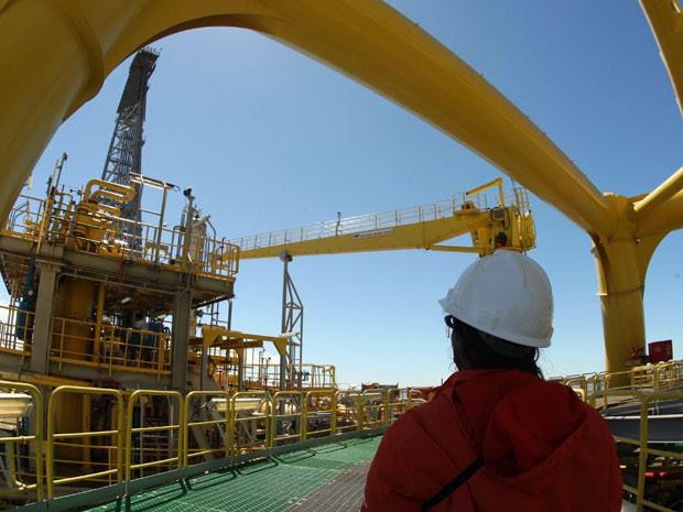 Plataforma de extração de petróleo da Petrobras (Foto: Agência Petrobras de Notícias)