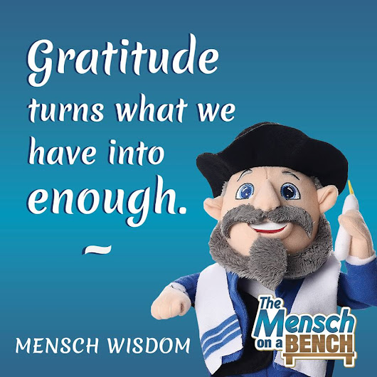 "This Holiday Season Take a Note from the ""Mensch on the Bench"""