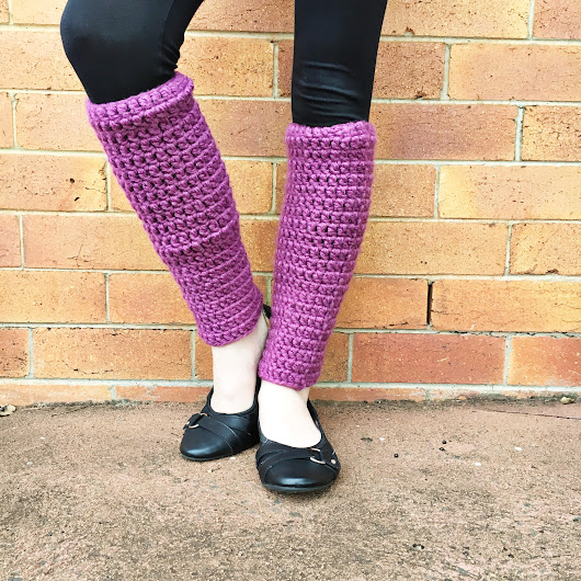 Easy Crochet Leg Warmers • The Crafty Mummy