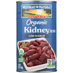 Westbrae Foods Organic Kidney Beans - Case Of 12 - 25 Oz.