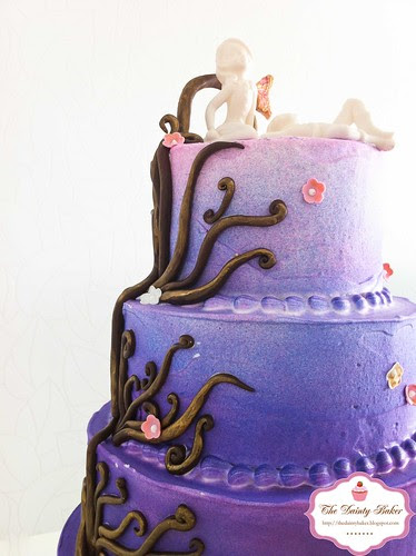 Ombre Fantasy Wedding cake-6