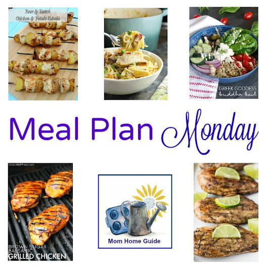 Meal Plan Monday -- Chicken Carbonara Pasta and Beer & Ranch Chicken Kabobs