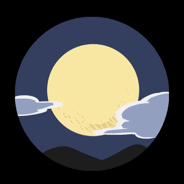 空に浮かぶ月のイラスト かわいいフリー素材が無料のイラストレイン