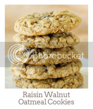 """Raisin Walnut Oatmeal Cookies"""