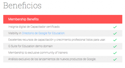 Soy Google for Education Certified Trainer