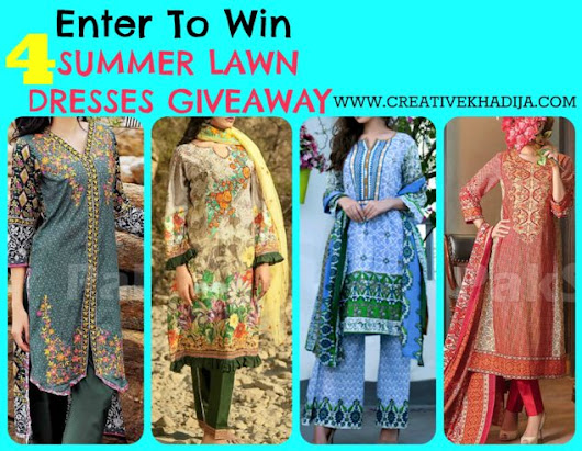 Spring-Summer Embroidered Lawn Dresses GIVEAWAY