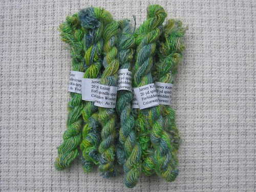 Sample skeins