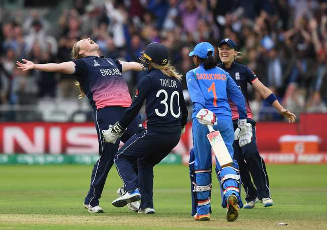 ONE WOMAN SHOW: Anya Shrubsole produced a spell of a lifetime to trigger a late collapse and help England to their third World Cup title at home