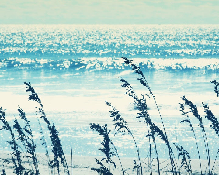 ocean photography coastal decor turquoise blue by TheGinghamOwl