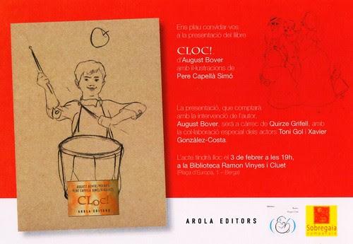 """Cloc!"", poemari d'August Bover"