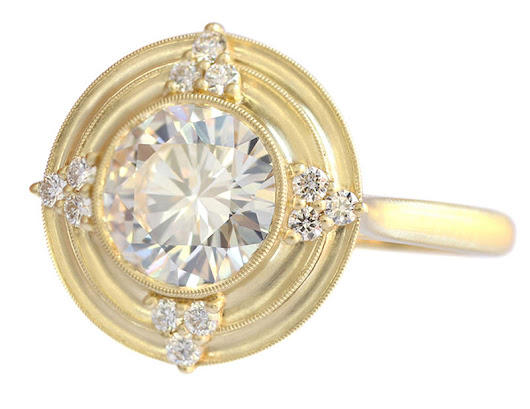 Engagement Ring Trend: Golden Halos