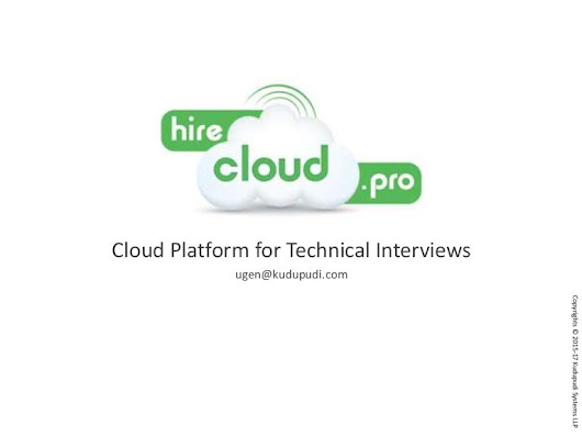 hirecloud.pro: cloud based platform to conduct technical interviews