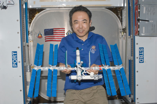 Satoshi Furukawabuilt a Lego model of the International Space Station
