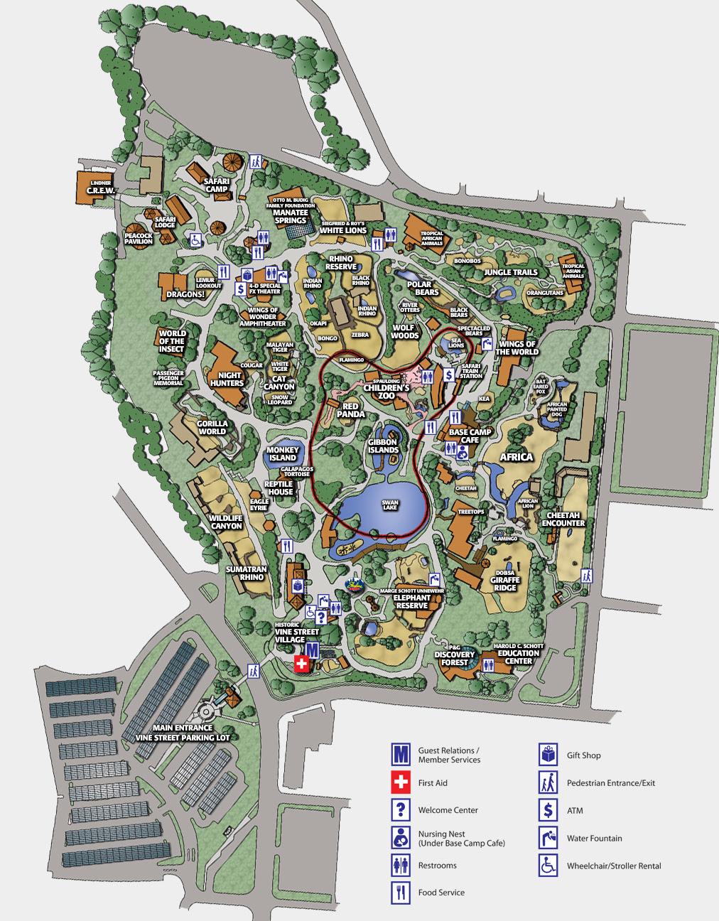 Cincinnati Zoo Map Cincinnati Zoo Map | GOOGLESAND Cincinnati Zoo Map