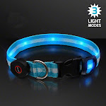 Blinkee A310 LED Blue Flashing Striped Dog Collar
