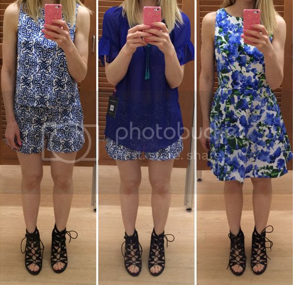 Milly for Kohls Blue Mosaic Floral