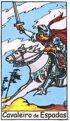 Cavaleiro de espadas  no Tarô Rider-Waite-Smith