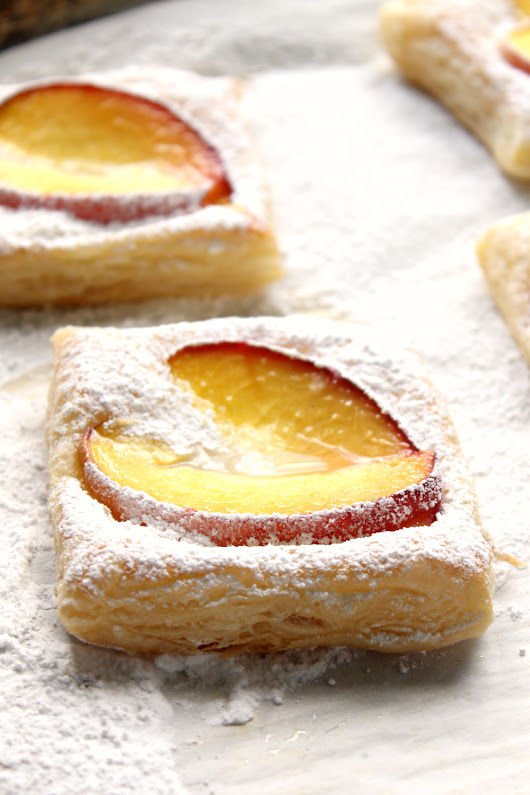 Peaches and Cream Pastries | Natural Chow