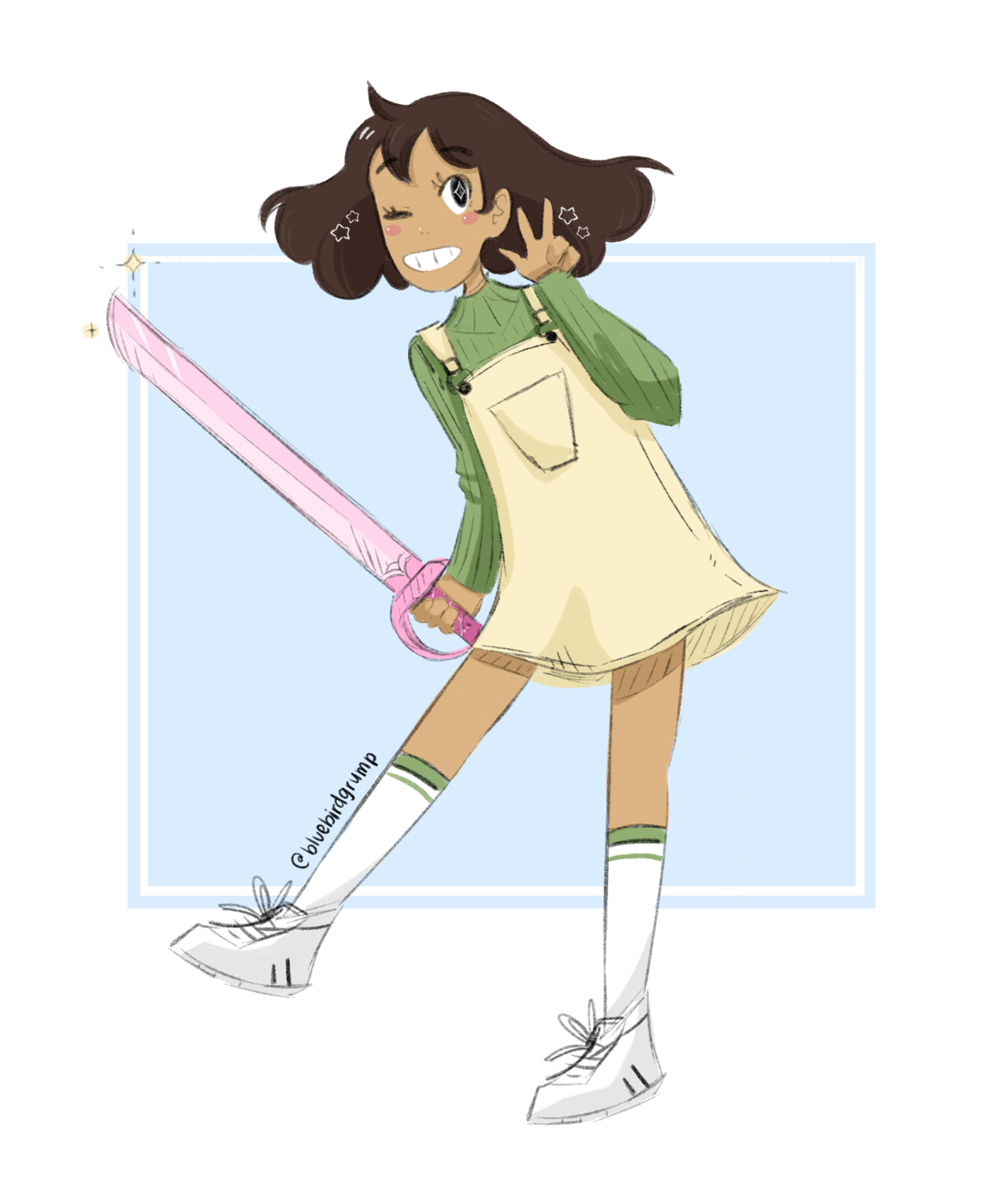 quick !! wanted to draw Connie in my current favorite outfit from my closet