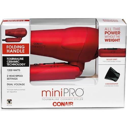 Conair Mini Pro 263SR Hair Dryer - 1200W - Metallic Red