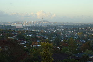 View of Auckland's North Shore from the reserv...
