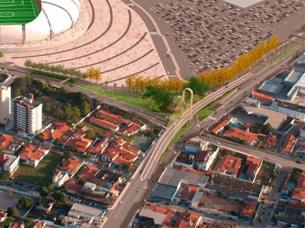 Viaduto estaiado será erguido no cruzamento das avenidas Prudente de Morais com a Lima e Silva (Foto: Divulgação/Prefeitura de Natal)