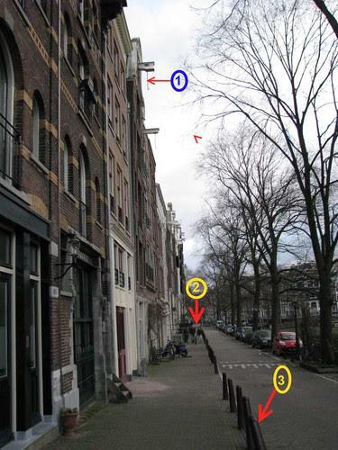 calçada e ciclovia vista geral