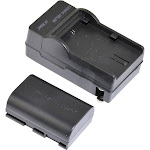 ProAm Equivalent 2000mAh Battery and Charger for Canon LP-E6 LCD Adapter Plate