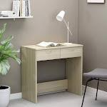 "Tufiny Desk Sonoma Oak 31.5""x15.7""x29.5"" Chipboard Brown"