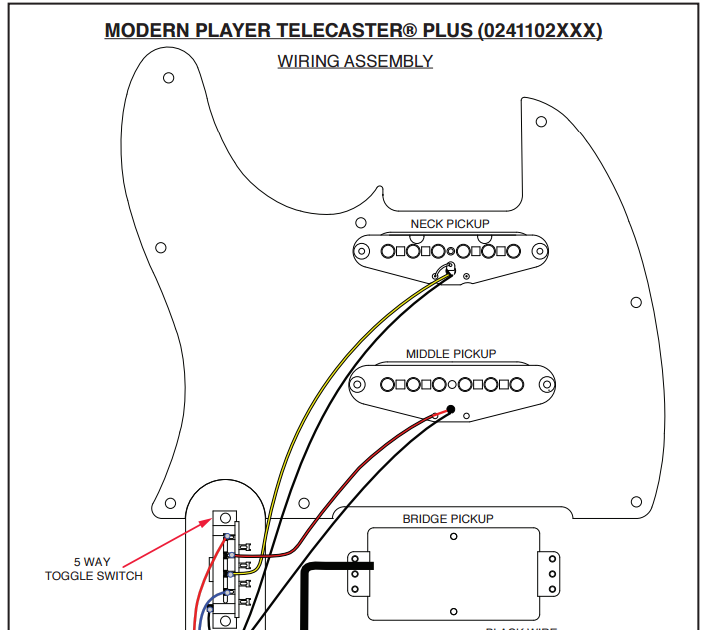 Fender Modern Player Stratocaster Wiring Diagram