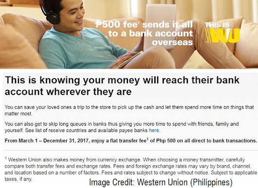 Send the Money via Western Union to a Bank Account Overseas