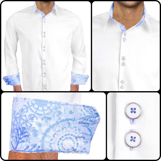 Mens Holiday Dress Shirt : Blizzard