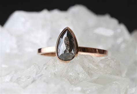 Natural Black Rose Cut Diamond Ring ? Alexis Russell