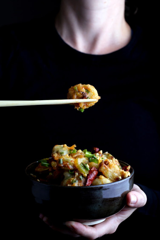 Crispy Kung Pao Brussels Sprouts