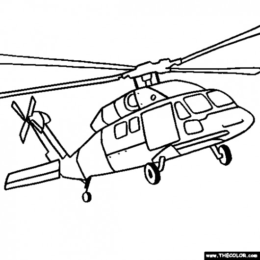 Lovely Savath Helikopter Boyama Sayfalari
