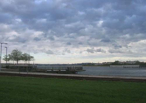 Liberty State Park in Irene's wake